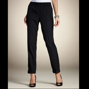 Chico's Tencel Twill Cuffed Ankle Pants Black